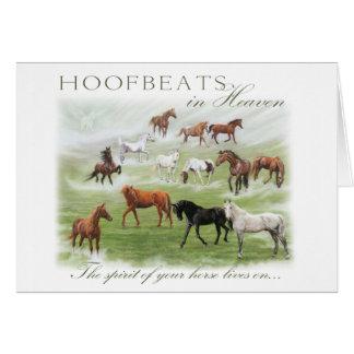 Cartão Hoofbeats no céu - simpatia do cavalo
