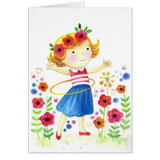 Cartão Hoolahoop Girl