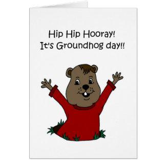 Cartão Hooray seu dia de Groundhog 2