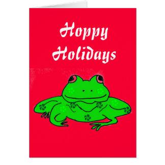 Cartão Hoppy do sapo dos feriados