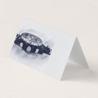 Cartão hora azul pastel