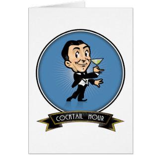 Cartão Hora do cocktail