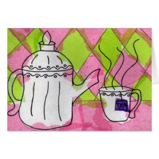 Cartão Hora para o chá