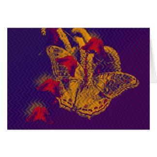 Cartão horizontal das borboletas radioativas