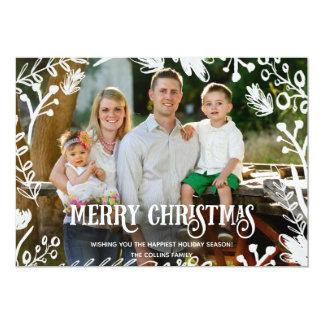 Cartão horizontal do feriado da foto completa do