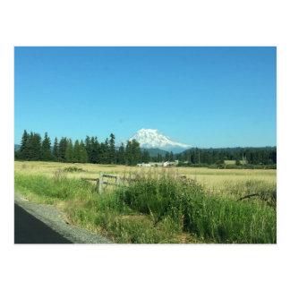 Cartão horizontal do Monte Rainier