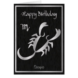 Cartão Horóscopo da Escorpião do feliz aniversario