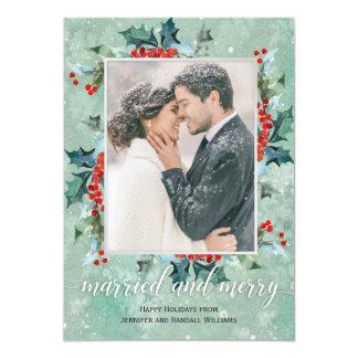 Cartão Hortaliças casadas e alegres do feriado