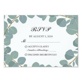 Cartão Hortaliças da grinalda do eucalipto que Wedding a