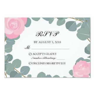 Cartão Hortaliças florais do eucalipto que Wedding a