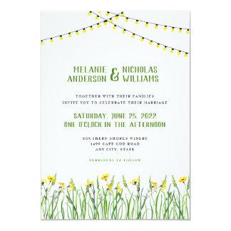 Cartão Hortaliças na moda + Wildflowers + luzes que