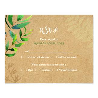 Cartão Hortaliças rústicas que Wedding RSVP