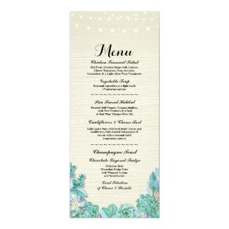 Cartão Hortelã rústica dos Succulents da recepção de