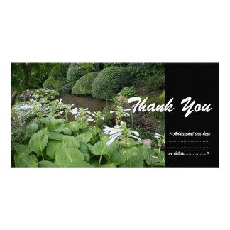Cartão Hosta em um obrigado do jardim 2 do zen você