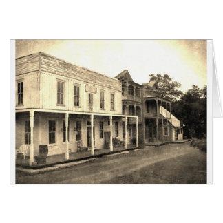 Cartão Hotel da cidade fantasma do vintage