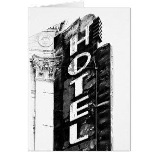 Cartão Hotel do desgosto