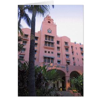 Cartão Hotel havaiano real