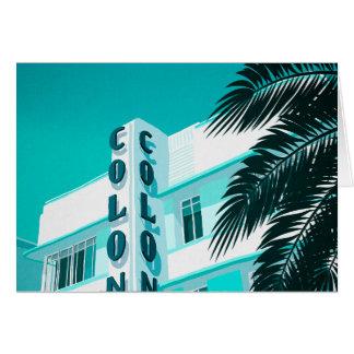 Cartão Hotel Miami da colônia