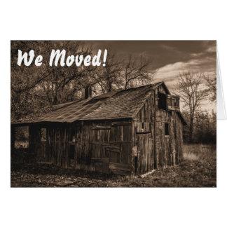 Cartão Housewarming engraçado/mover-se