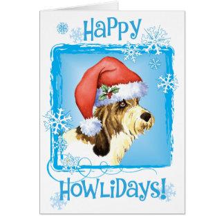 Cartão Howliday feliz PBGV