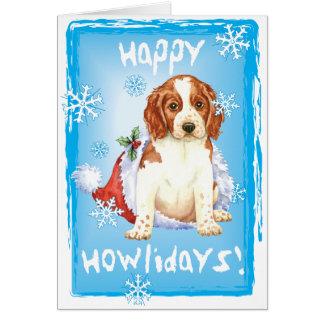 Cartão Howliday feliz Welshie