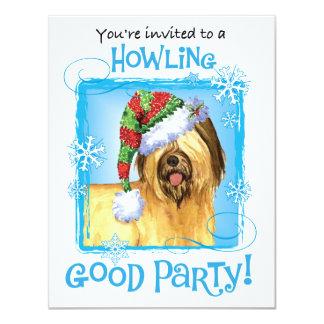 Cartão Howlidays feliz Briard