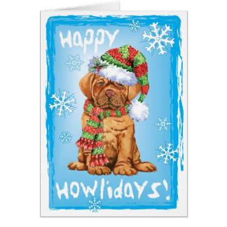 Cartão Howlidays feliz Dogue