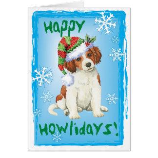 Cartão Howlidays feliz Kooikerhondje