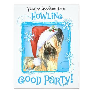 Cartão Howlidays feliz Skye Terrier