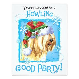 Cartão Howlidays feliz Terrier tibetano