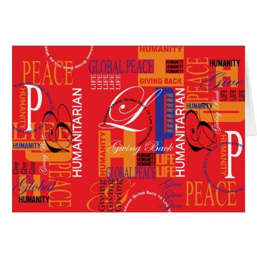Cartão humanitário dos grafites