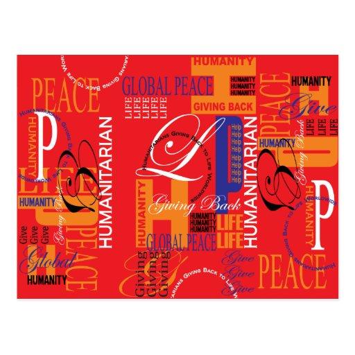 Cartão humanitário dos grafites cartão postal