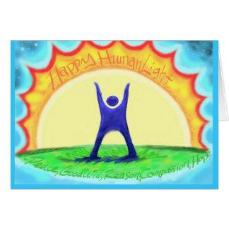 Cartão HumanLight feliz! Da descrição HL da parte