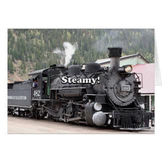 Cartão Húmido!: motor do trem do vapor, Colorado, EUA