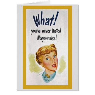 Cartão Humor da comida do vintage