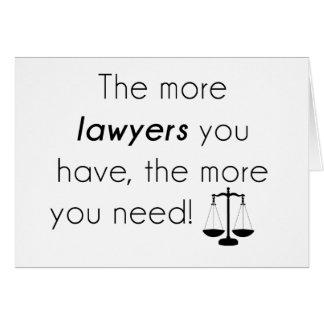 Cartão Humor do advogado