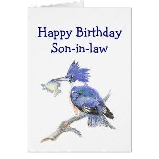 Cartão Humor do aniversário do genro da pesca o martinho