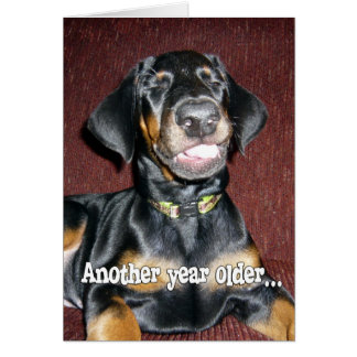 Cartão Humor do aniversário - filhote de cachorro de