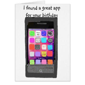 Cartão Humor do App do telefone do feliz aniversario