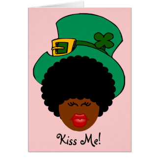 Cartão Humor do dia de St Patrick: Beije-me. Eu sou