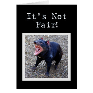Cartão Humor do feliz aniversario de diabo tasmaniano