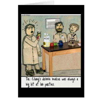 Cartão Humor do laboratório da taça do fluxo