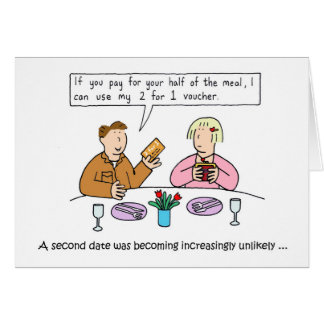 Cartão Humor do namorando, homens médios