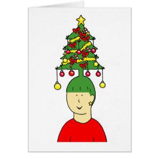 Cartão Humor do penteado do Natal