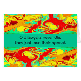 Cartão humor dos advogados