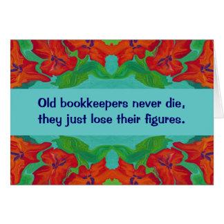 Cartão humor dos guarda-livros