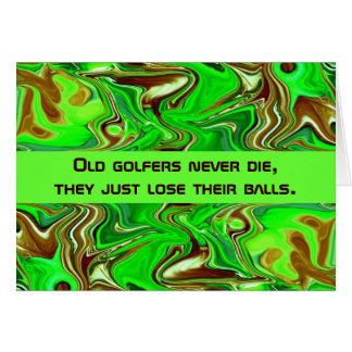 Cartão humor dos jogadores de golfe