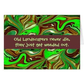 Cartão humor dos landscapers