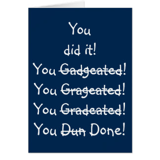 Cartão Humor engraçado dos parabéns da graduação do erro