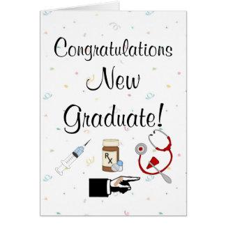 Cartão Humor novo da Formando-Enfermeira dos parabéns